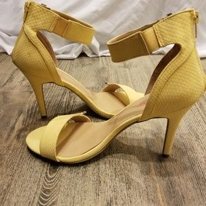 NEW CANARY YELLOW ANKLE SANDAL